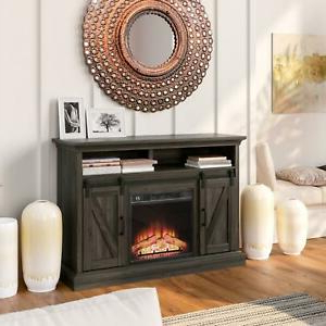 """Well Known Barn Door Fireplace Tv Stand Fits Up To 58"""" Tvs In Berene Tv Stands For Tvs Up To 58"""" (View 21 of 30)"""