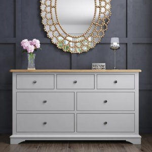 """Well Known Darley Two Tone Wide Chest Of Drawers In Solid Oak And With Regard To Desirae 48"""" Wide 2 Drawer Sideboards (View 27 of 30)"""