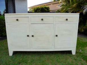 """Well Known Emmie 84"""" Wide Sideboards Within Off White 3 Door 3 Drawer Sideboard / Buffet / Cabinet (View 18 of 30)"""