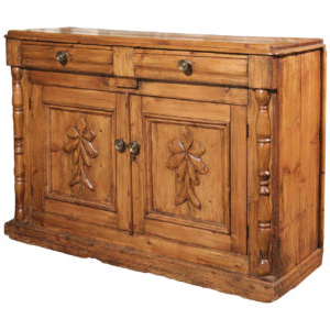 """Well Known English 1860s Oak Buffet With Two Drawers, Two Doors And Inside Milena 52"""" Wide 2 Drawer Sideboards (View 30 of 30)"""