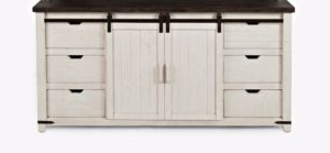 "Well Known Eskew 60"" Wide Sideboards In Westhoff 60 Wide 6 Drawer Pine Sideboard (View 7 of 30)"