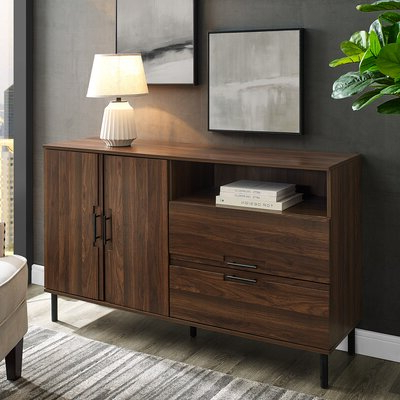 """Well Known Espresso Wood Sideboards & Buffets You'll Love In 2020 Throughout Fahey 58"""" Wide 3 Drawer Acacia Wood Sideboards (View 4 of 30)"""