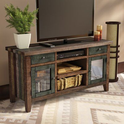 """Well Known Evanston Tv Stands For Tvs Up To 60"""" Pertaining To Loon Peak Guadalupe Ridge Solid Wood Tv Stand For Tvs Up (View 27 of 30)"""