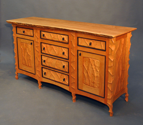"""Well Known John Wesley Williams Furniture Birdseye Maple Sideboard With Nahant 36"""" Wide 4 Drawer Sideboards (View 3 of 30)"""