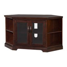 Well Known Kemble Tv Stands For Tvs Up To 56 In Where To Get Chocolate Cherry And Bronze Glass 46 Corner (View 14 of 30)