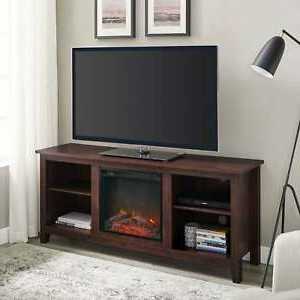 """Well Known Labarbera Tv Stands For Tvs Up To 58"""" Pertaining To Roosevelt Traditional Brown 58 Inch Fireplace Tv Stand (View 4 of 30)"""