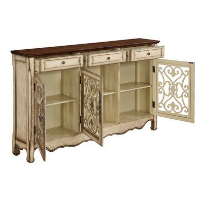 """Well Known Lark Manor Mauzy 60"""" Wide 3 Drawer Sideboard & Reviews Inside Eskew 60"""" Wide Sideboards (View 9 of 30)"""