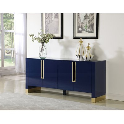 """Well Known Lorraine 48"""" Wide 2 Drawer Acacia Wood Drawer Servers In Blue & Green Sideboards & Buffets You'll Love In  (View 12 of 30)"""