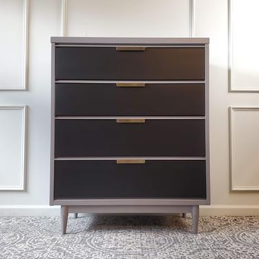 Well Known Navy Blue Buffet / Sideboard / Credenzauniquebyruth For Rockville (View 14 of 30)