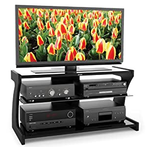 """Well Known Quillen Tv Stands For Tvs Up To 43"""" Intended For Amazon: Sonax Sn 2420 Sonoma 43 Inch Midnight Black (View 9 of 30)"""