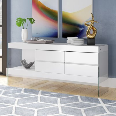 """Well Known Reece 79"""" Wide Sideboards With Regard To Buffet Table White Sideboards & Buffets You'll Love In (View 15 of 30)"""