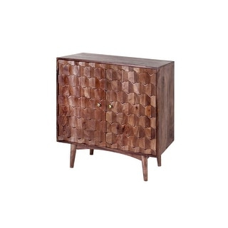 """Well Known Signet 32 Inch Mango Wood & Iron Hand Carved Sideboard Throughout Strock 70"""" Wide Mango Wood Sideboards (View 10 of 30)"""
