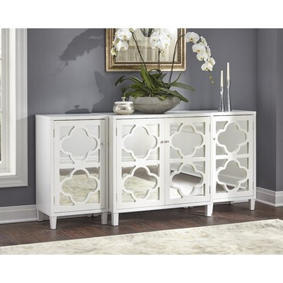 """Well Known Voight 46"""" Wide 4 Drawer Acacia Wood Drawer Servers Intended For Coastal Sideboards & Buffets You'll Love In (View 4 of 24)"""