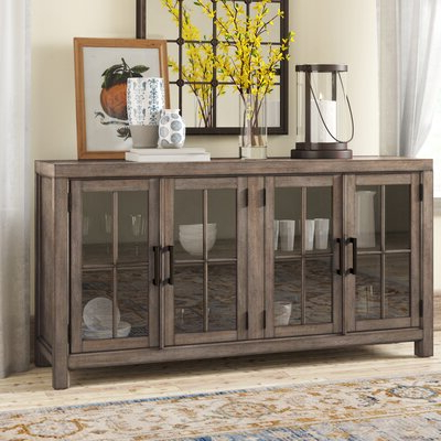 """Well Known Westhoff 70"""" Wide 6 Drawer Pine Wood Sideboards Intended For Farmhouse & Rustic Sideboards & Buffets (View 23 of 30)"""