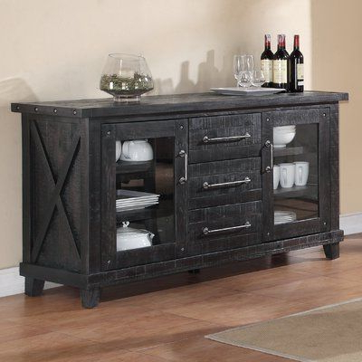 """Well Liked Caila 60"""" Wide 3 Drawer Sideboards In August Grove Giulia 3 Drawer Credenza (View 4 of 30)"""