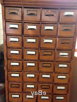 """Well Liked Circa 1910 Antique 56 Drawer Oak Card Library File Cabinet In Isra 56"""" Wide 3 Drawer Sideboards (View 18 of 30)"""