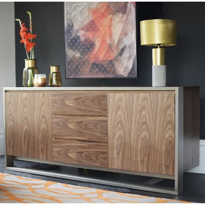 Well Liked Click To Zoom – Nox Two Door Sideboard With Drawers Walnut With Chouchanik 46 Wide 4 Drawer Sideboards (View 9 of 30)