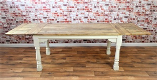 Well Liked Extendable Rustic Farmhouse Dining Table Painted In Farrow Regarding Wales Storage Sideboards (View 24 of 30)