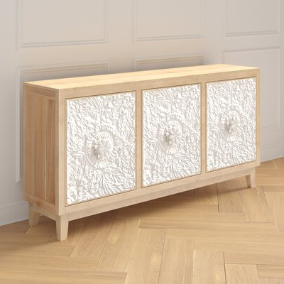 """Well Liked Thame 70"""" Wide 4 Drawers Pine Wood Sideboards Inside Sideboards & Buffet Tables (View 16 of 30)"""