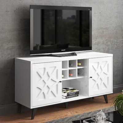 """Westhoff 60"""" Wide 6 Drawer Pine Wood Credenzas With Popular White Credenzas & Sideboards You'll Love In (View 11 of 30)"""