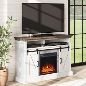 """Whalen Allston Barn Door Fireplace Tv Stand For Tvs Up To For 2020 Labarbera Tv Stands For Tvs Up To 58"""" (View 22 of 30)"""