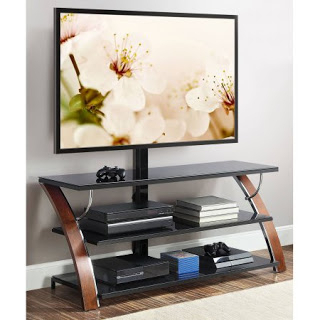 """Whalen Brown Cherry 3 In 1 Flat Panel Tv Stand For Tvs Up With 2019 Finnick Tv Stands For Tvs Up To 65"""" (View 7 of 30)"""
