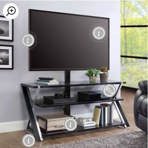 """Whalen Xavier 3 In 1 Tv Stand For Tvs Up To 70"""", With 3 With Regard To Well Liked Lorraine Tv Stands For Tvs Up To 70"""" (View 16 of 30)"""