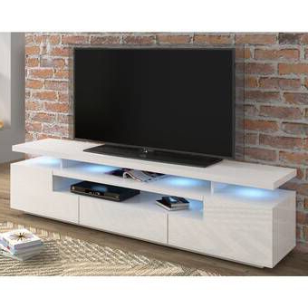"""White Tv Pertaining To Lorraine Tv Stands For Tvs Up To 70"""" (View 15 of 30)"""