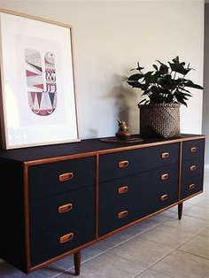 """Widely Used Danish Retro Vintage Teak Chest Of Drawers Sideboard Tv Inside Nahant 36"""" Wide 4 Drawer Sideboards (View 12 of 30)"""