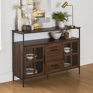 """Widely Used Gracie Oaks Dostie 48"""" Wide Buffet Table & Reviews For Herringbone 48"""" Wide Buffet Tables (View 28 of 30)"""