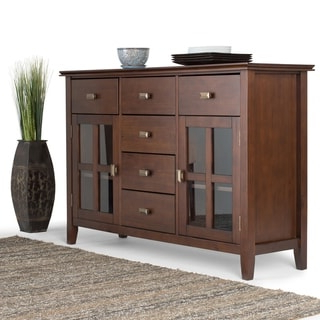 """Widely Used Shop Furniture Of America Haylette Rustic Brown 63 Inch Within Benghauser 63"""" Wide Sideboards (View 13 of 30)"""