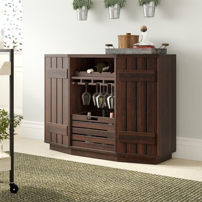 """Wine Bottle Storage Equipped Sideboards & Buffets You'll In 2020 Shirley Mills 52"""" Wide Buffet Tables (View 21 of 30)"""