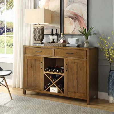 """Wine Bottle Storage Equipped Sideboards & Buffets You'll Inside 2020 Dostie 48"""" Wide Buffet Tables (View 23 of 30)"""