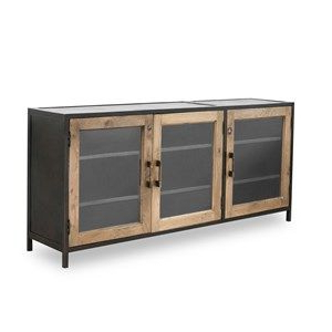 Wood Media Console With Babbie Sideboards (View 5 of 10)