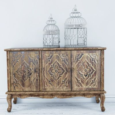 """Wood Sideboard Pertaining To Kidham 68"""" Wide Sideboards (View 19 of 30)"""