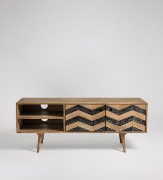Wooden Media Unit, Mid (View 15 of 30)
