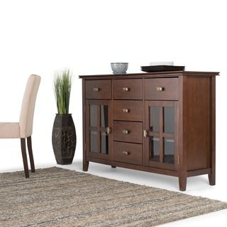"""Wyndenhall Stratford Solid Wood 54 Inch Wide Contemporary Regarding Most Recently Released Westhoff 70"""" Wide 6 Drawer Pine Wood Sideboards (View 3 of 30)"""