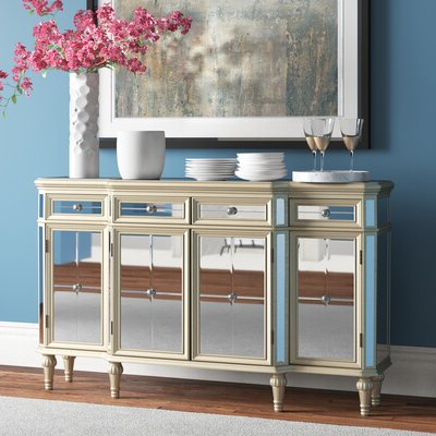 """Yukon 58"""" Wide 2 Drawer Pine Wood Sideboards Intended For Favorite Credenza (View 20 of 30)"""