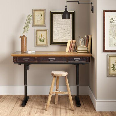 17 Stories Hawkesbury 60'' Standing Desk In 2021 Intended For Most Current Industrial Tv Stands With Metal Legs Rustic Brown (View 7 of 10)
