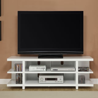 2017 Alden Design Wooden Tv Stands With Storage Cabinet Espresso Within Altra 60 Inch Contemporary Reversible Back Panel Tv Stand (View 3 of 10)