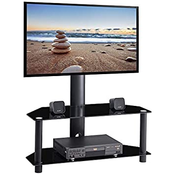 2017 Amazon: Ianiya Swivel Floor Tv Stand With Mount Height With Regard To Tier Entertainment Tv Stands In Black (View 2 of 10)