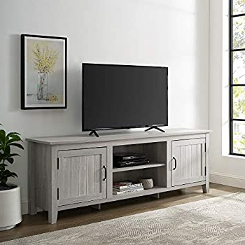2017 Amazon: Walker Edison Furniture Company Modern Throughout Walker Edison Farmhouse Tv Stands With Storage Cabinet Doors And Shelves (View 4 of 10)