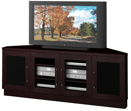"""2017 Camden Corner Tv Stands For Tvs Up To 60"""" Throughout Furnitech Ft60ccc – 60"""" Wide Contemporary Corner Tv Stand (View 1 of 10)"""