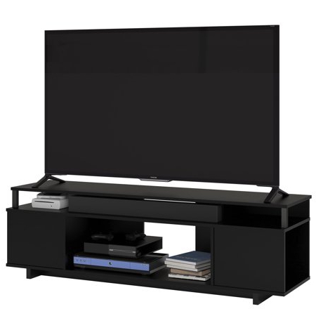 """2017 Carson Tv Stands In Black And Cherry Within Ameriwood Home Carson Tv Stand For Tvs Up To 65"""", Black (View 10 of 10)"""