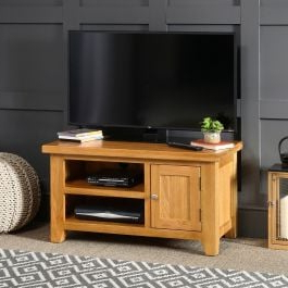 """2017 Cheshire Oak Small Tv Unit – To Fit Tvs Up To 44"""" (View 9 of 10)"""