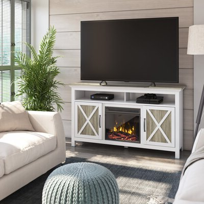 """2017 Laurel Foundry Modern Farmhouse Abordale Tv Stand For Tvs Throughout Lorraine Tv Stands For Tvs Up To 60"""" With Fireplace Included (View 10 of 10)"""