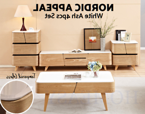 2017 Modern Tv Stand Entertainment Unit Coffee Table Drawer With Regard To Alden Design Wooden Tv Stands With Storage Cabinet Espresso (View 6 of 10)