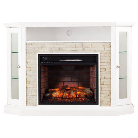 """2017 Southern Enterprises Redden Infrared Electric Media Within Chicago Tv Stands For Tvs Up To 70"""" With Fireplace Included (View 9 of 10)"""