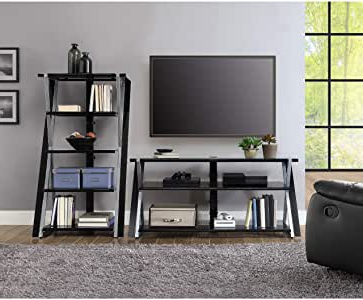 """2017 Whalen Xavier 3 In 1 Tv Stands With 3 Display Options For Flat Screens, Black With Silver Accents Throughout Whalen Xavier 3 In 1 Tv Stand For Tvs Up To 70"""", With  (View 3 of 10)"""