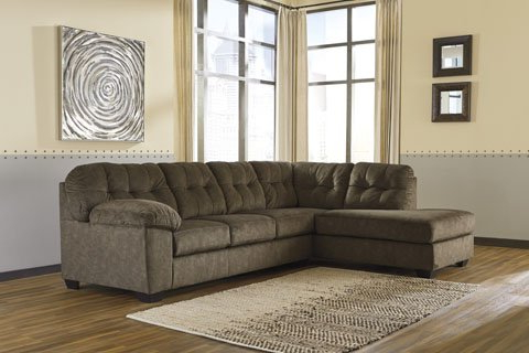 2018 2pc Maddox Left Arm Facing Sectional Sofas With Chaise Brown In Rent To Own Ashley Furniture Accrington Earth 2 Piece (View 1 of 10)